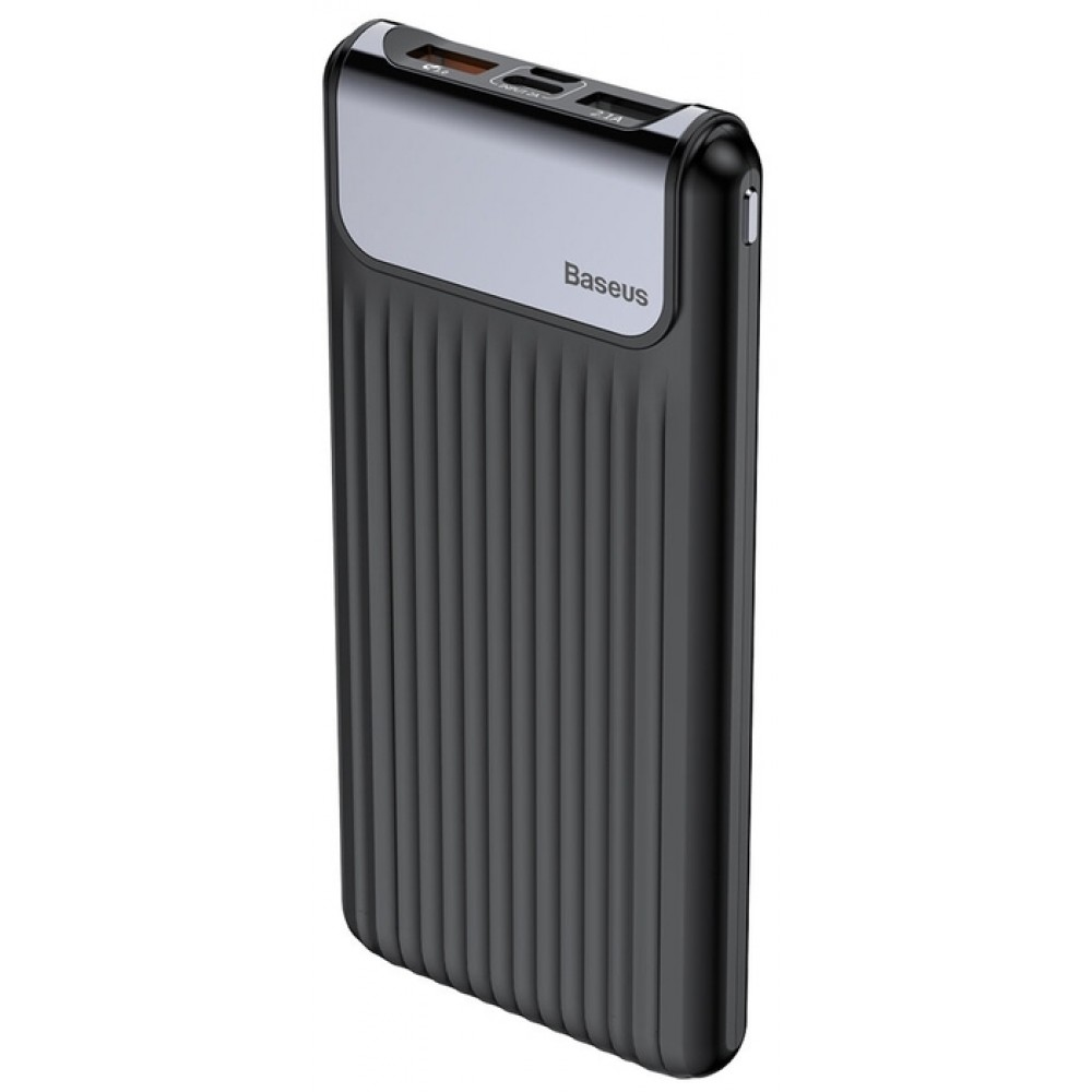 Power Bank 10000 mAh BASEUS Thin Digital QC3.0 Black