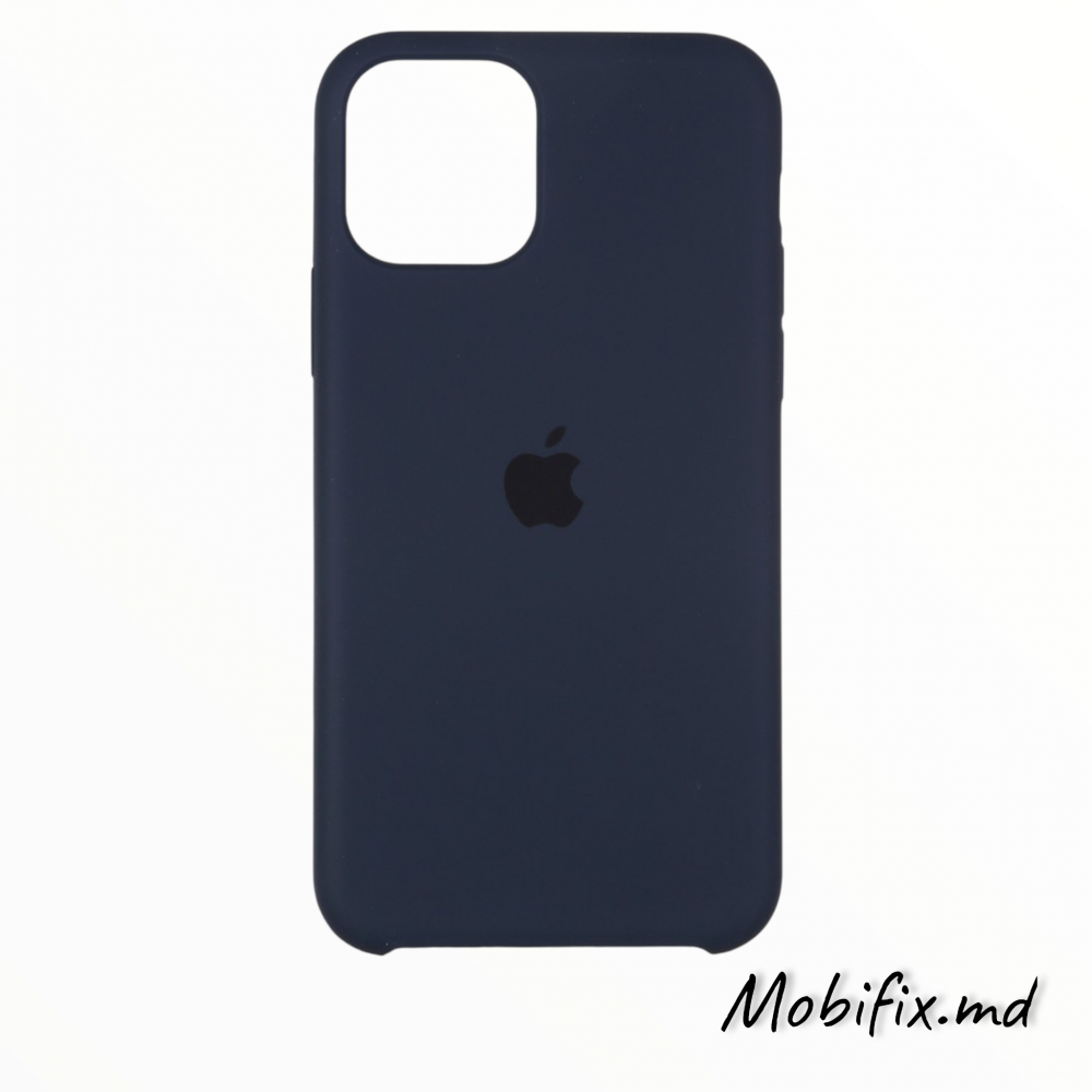 Чехол iPhone 11 Silicone Case Full Cover (midnight blue)