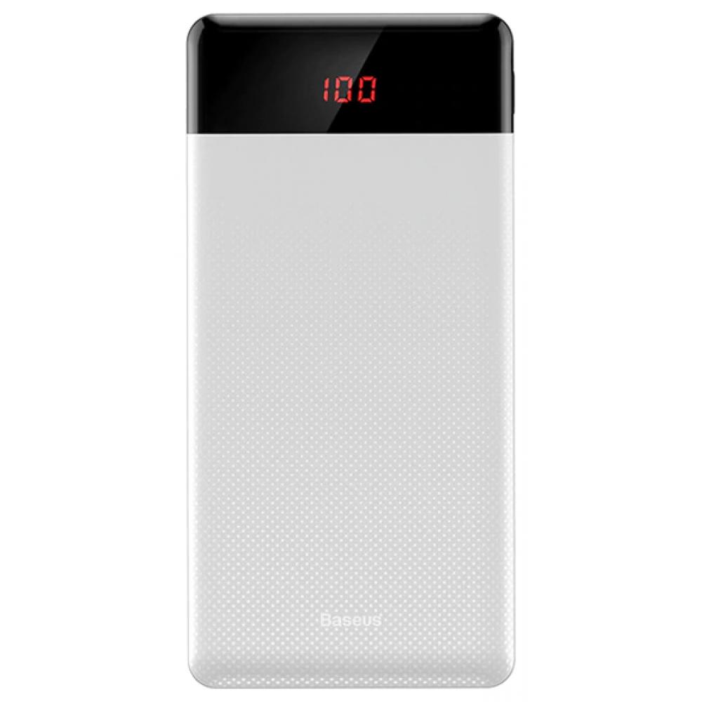 Power Bank 10000 mAh BASEUS Mini Cu Display white
