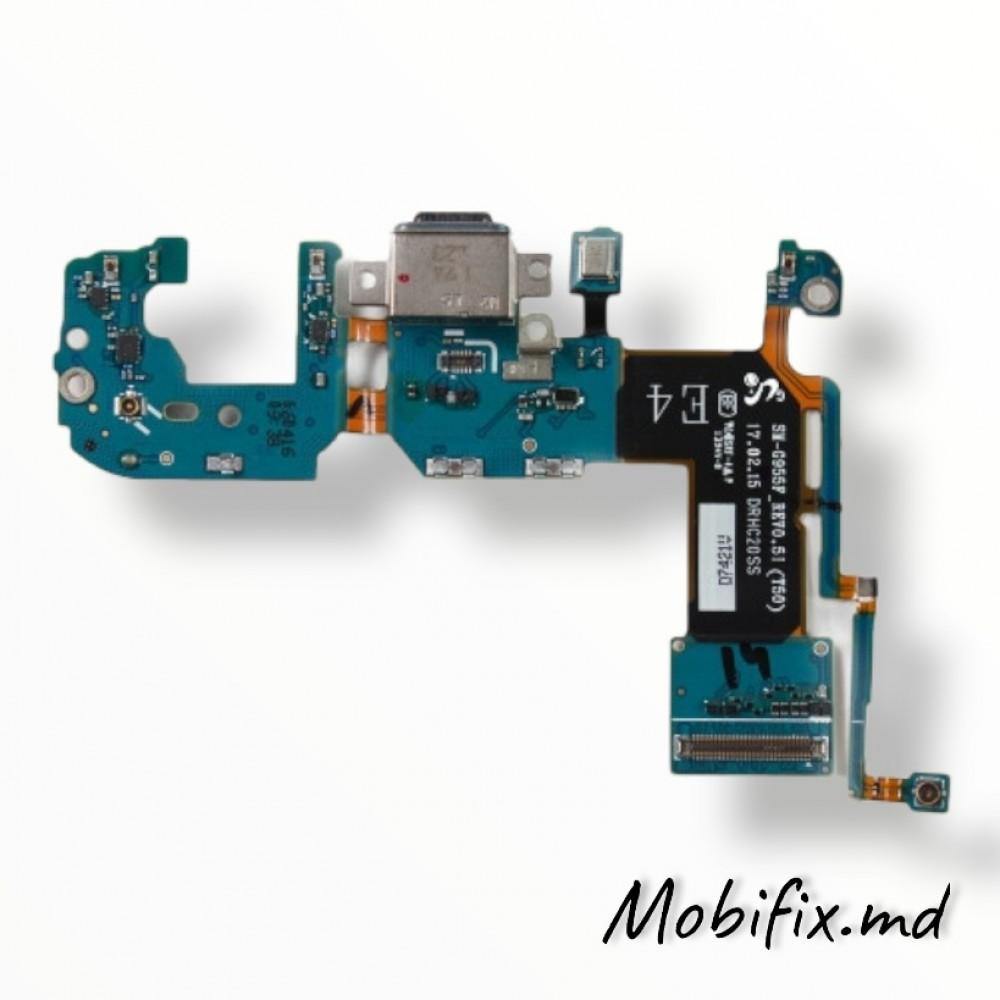 Шлейф разъема зарядки Samsung S8+ G955F